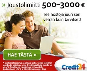 credit24 joustolimiitti